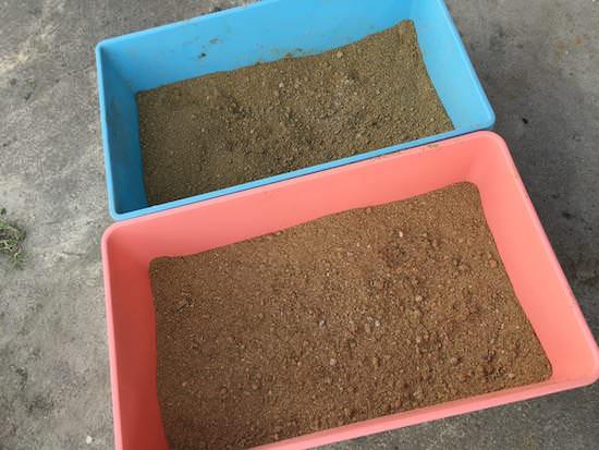 完成したボカシ肥は乾燥させる