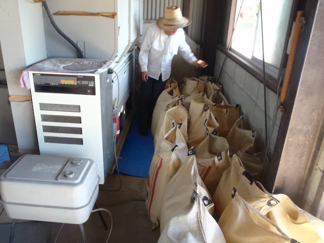 米の乾燥機