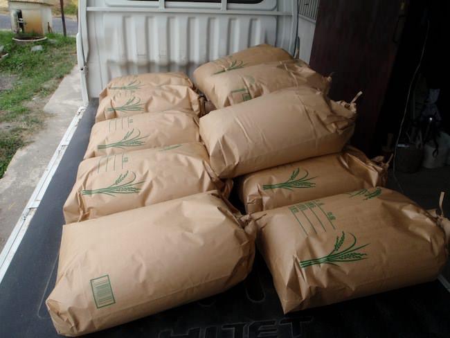 袋詰して出荷状態のお米