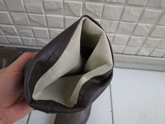 日本野鳥の会 バードウォッチング長靴 内側の素材