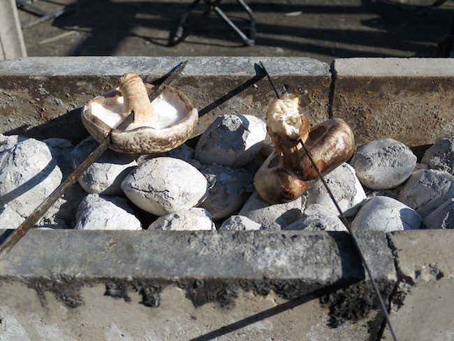 焼き椎茸 - もくもくファーム