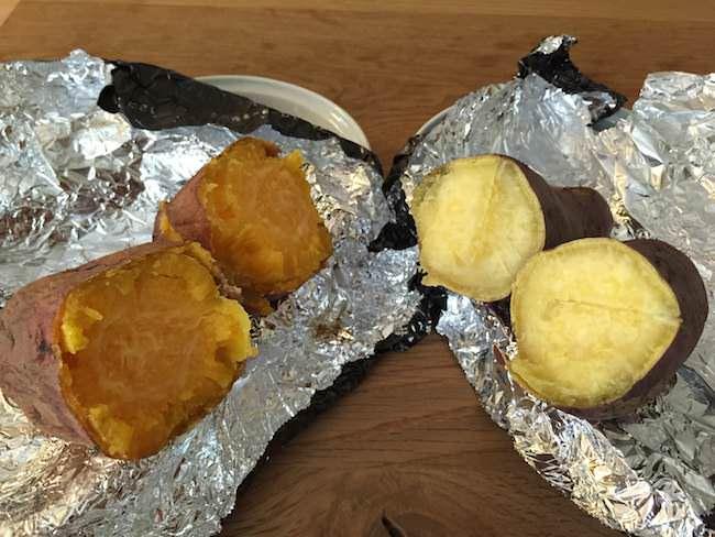 安納芋と鳴門金時の焼き芋