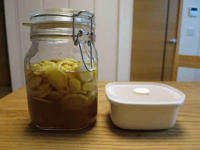 新生姜のはちみつ漬けと甘酢漬け