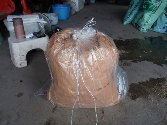 米ぬかぼかし肥料の仕込み完了
