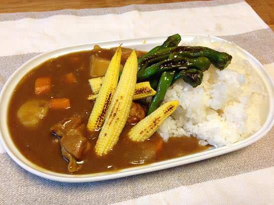 ヤングコーンで夏野菜カレー