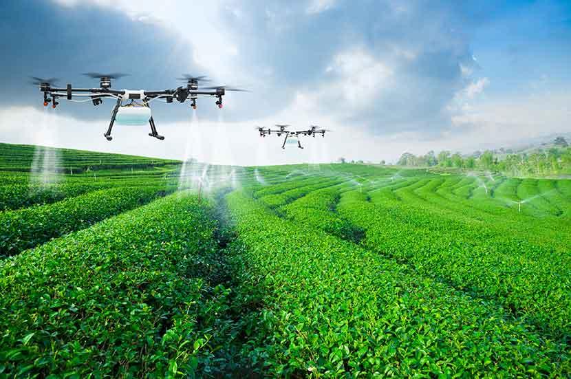 農業用の農薬散布ドローン