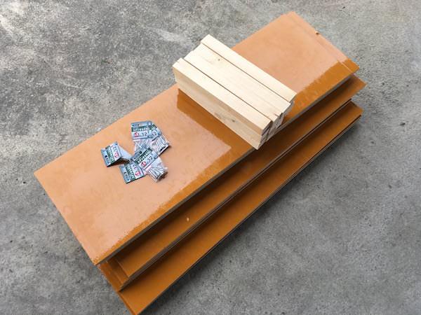 3段重ね堆肥枠の必要材料