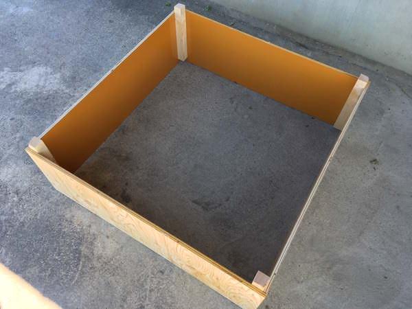 堆肥枠1段が完成