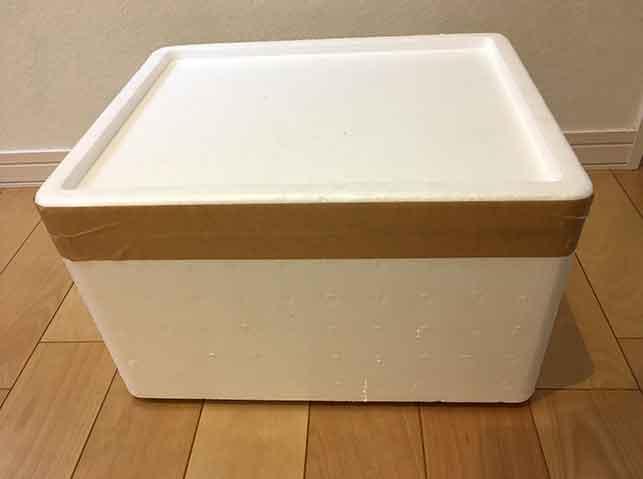 新生姜を新聞紙に包んで発泡スチロールの箱で密封保存